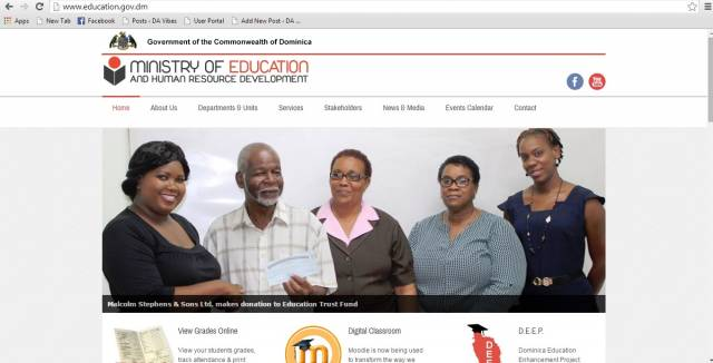 Education Department Launches New Website For Student Loan >> Ministry of Education launches new website | Dominica