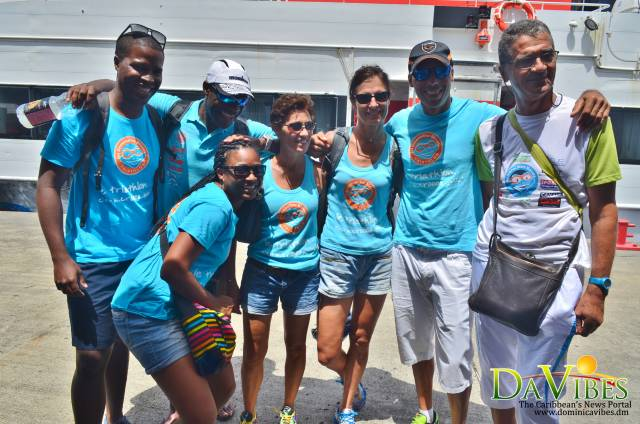 French celebrity triathletes arrive in Dominica for inaugural triathlon