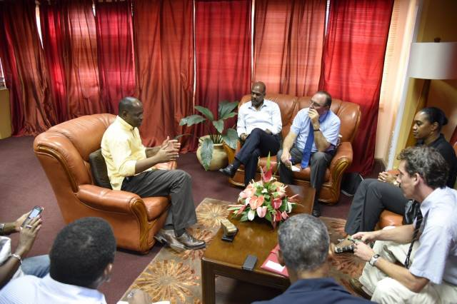 PM Skerrit discusses recovery efforts with French delegation