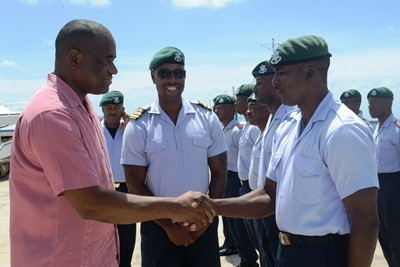 Dominica's Prime Minister Thanks Barbadian Forces