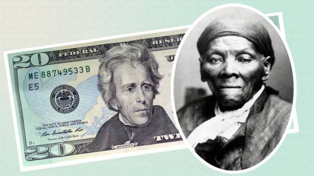 This file photo provided by the U.S. Treasury shows the front of the U.S. $20 bill, featuring a likeness of Andrew Jackson, seventh President of the United States and Harriet Tubman (inset), a female abolitionist during the Civil War.