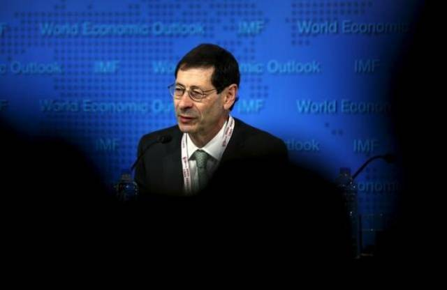 Maurice Obstfeld, Economic Counsellor and Director, Research Department of IMF delivers the International Monetary Fund's media briefing on the world economic outlook during its annual meeting in Lima, Peru, October 6, 2015. REUTERS/MARIANA BAZO/FILES