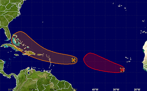 Tropical wave approaches Eastern Caribbean
