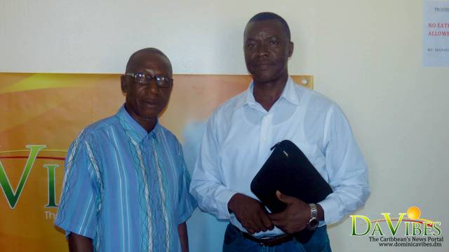 Pastor of the Wesley Seventh Day Adventist Church, Collin Bacchus (left) and Pastor of a Seventh Day Adventist Church in St Lucia, Nelson Lambert Moriann