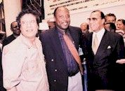 Ghadafi with Roosie Douglas