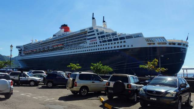 Queen Mary II visits Dominica again