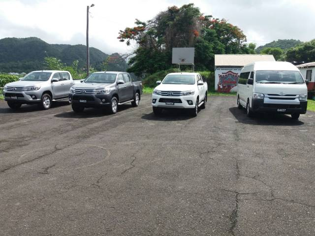 Dominica Police force receives four new vehicles