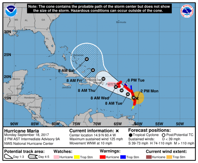 Maria become an extremely dangerous category 4 Hurricane