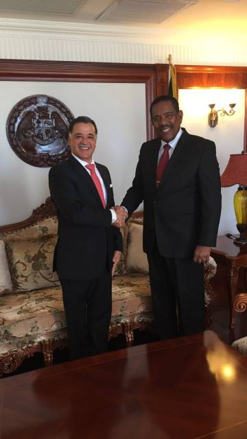 Ambassador of Mexico presents  Letters of Credence in Dominica