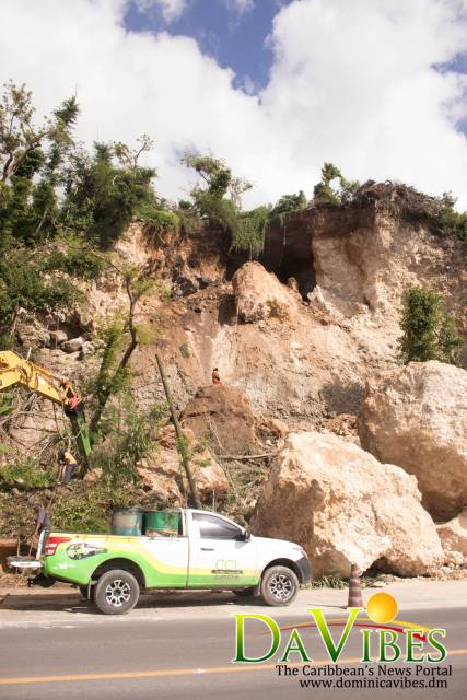 3rd boulder creates difficult situation under Canefield cliff