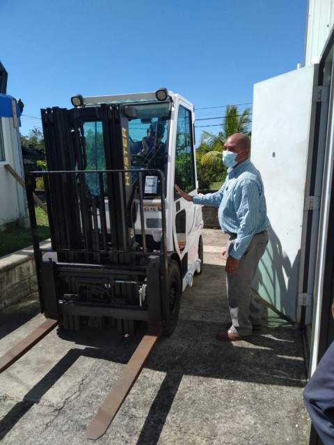 U.S. Provides Forklift to Dominica's Office of Disaster Management