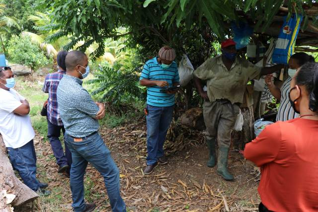 Fidel Grant visits ongoing projects within the East Agricultural Region