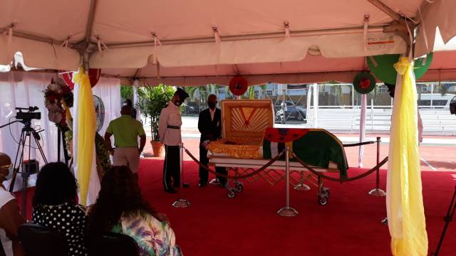 Lying in State of the late Hon. Edward Registe